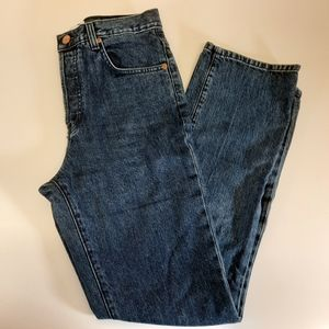 Dôen button fly high-waisted jeans